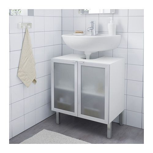 lill ngen waschbeckenunterschrank 2 t ren aluminium aluminium 60x38x66 cm zu hause. Black Bedroom Furniture Sets. Home Design Ideas