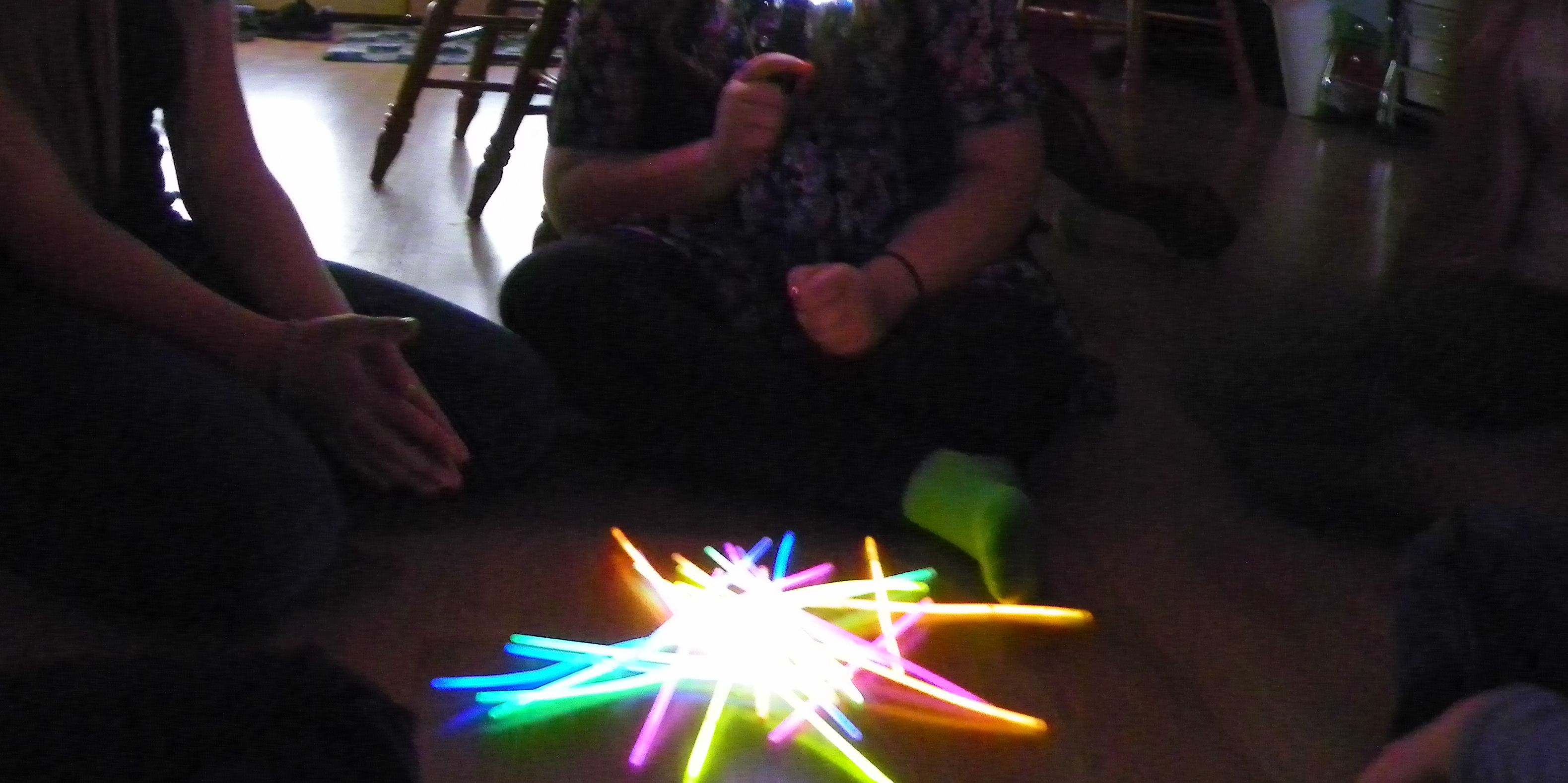 Use glow sticks for an indoor