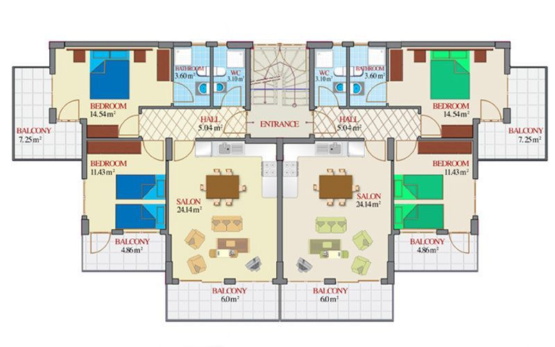 Free Apartment Plans And Designs Jpg 800 501 Small Apartment Building Design Floor Plans House Plans
