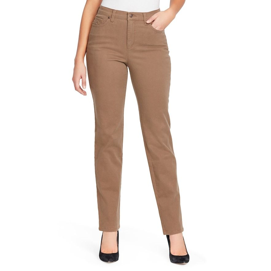 a22b77dfc7 Women's Gloria Vanderbilt MidRise Rail Straight-Leg Jeans, Med Brown ...
