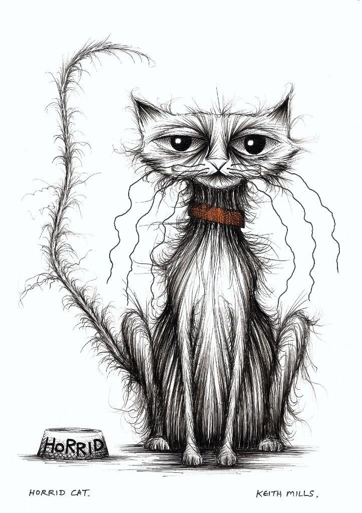 Horrid cat.