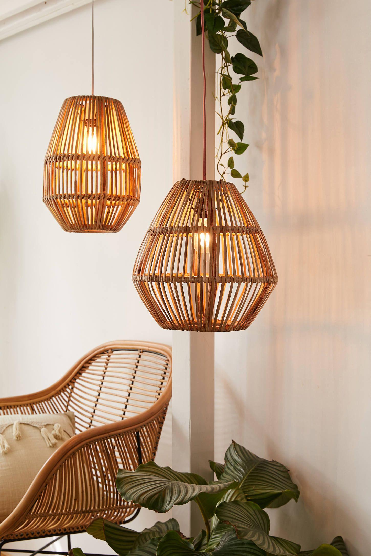 Bamboo woven pendant light shade trending decor home