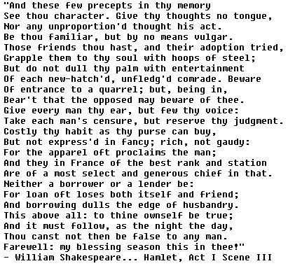 polonius advice to laertes worksheet