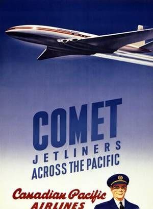 Boeing Jetliners Airline Travel Bag Retro Advert Poster Print New