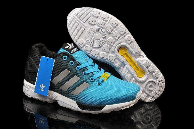 chaussure adidas originals zx flux reflective noir argent royal