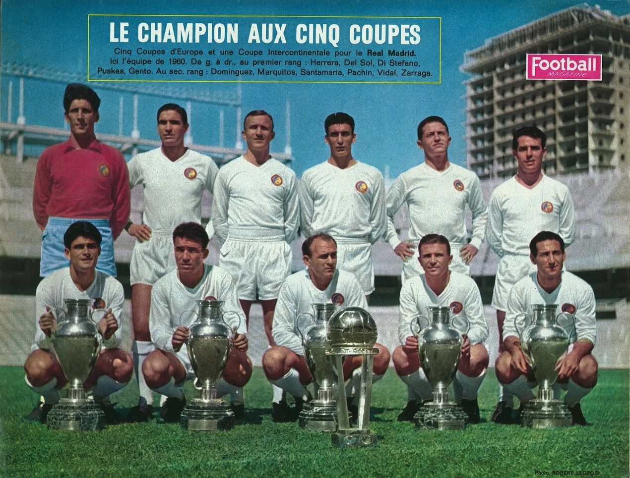 1960 1961 r al madrid a remport le cinqui me coupe d - Football coupe d europe des clubs champions ...