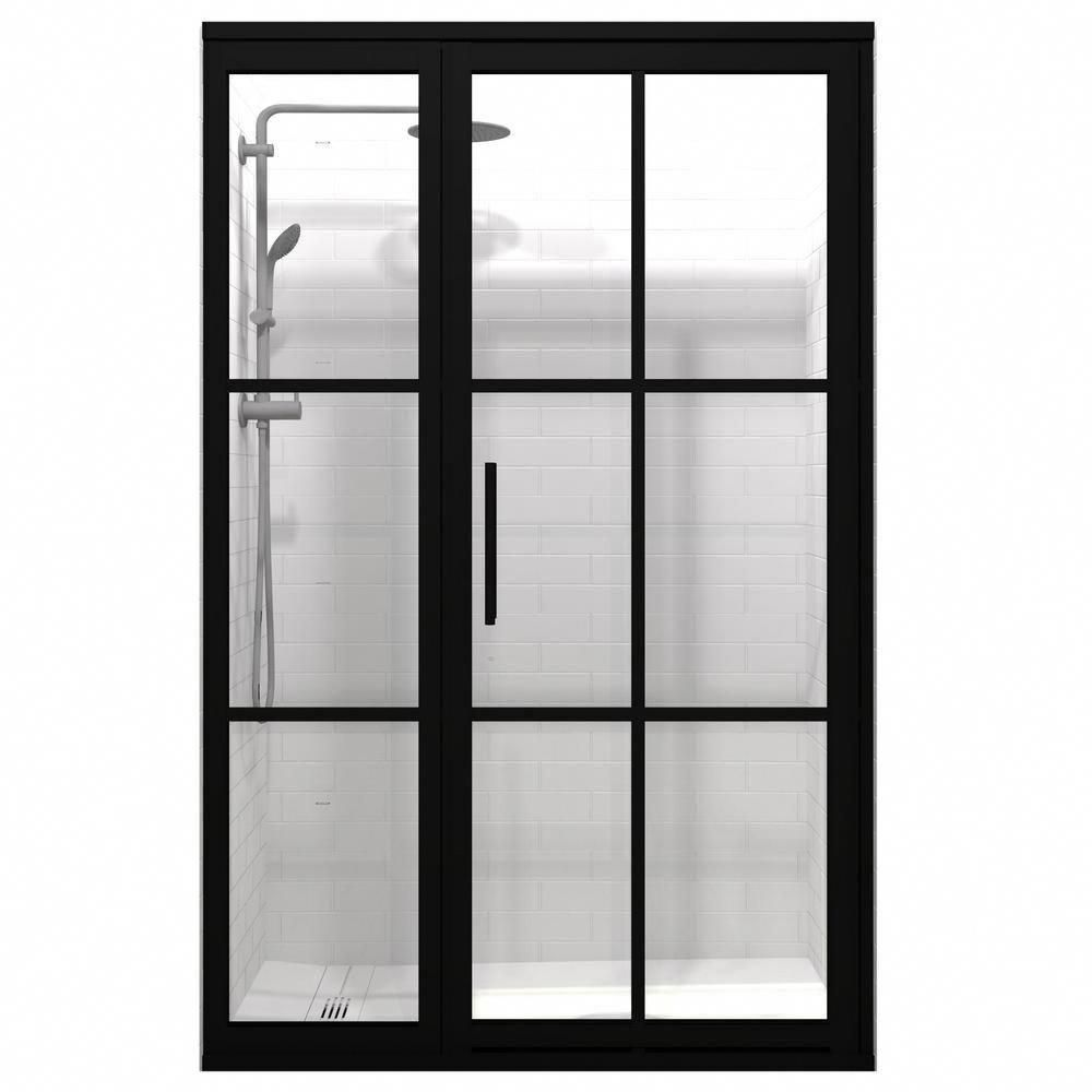 Coastal Shower Doors Gridscape Series 45 75 In X 76 In Framed