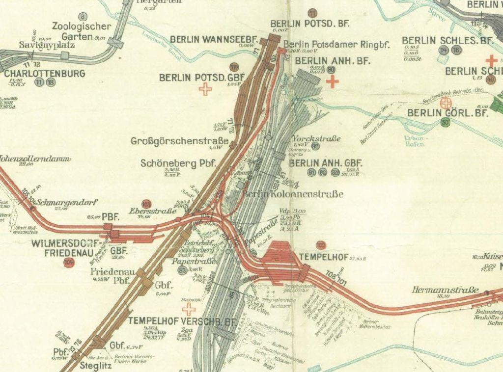 04 Historische Bahn Berlin Bahnhof Berlin Karte