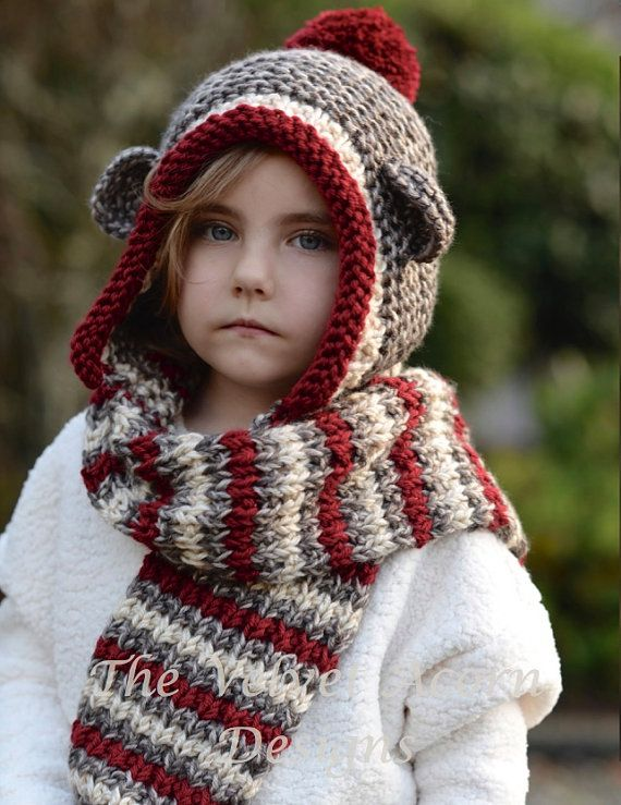 Knitting PATTERN-The Stockleigh Monkey (12/18 months, Toddler, Child ...