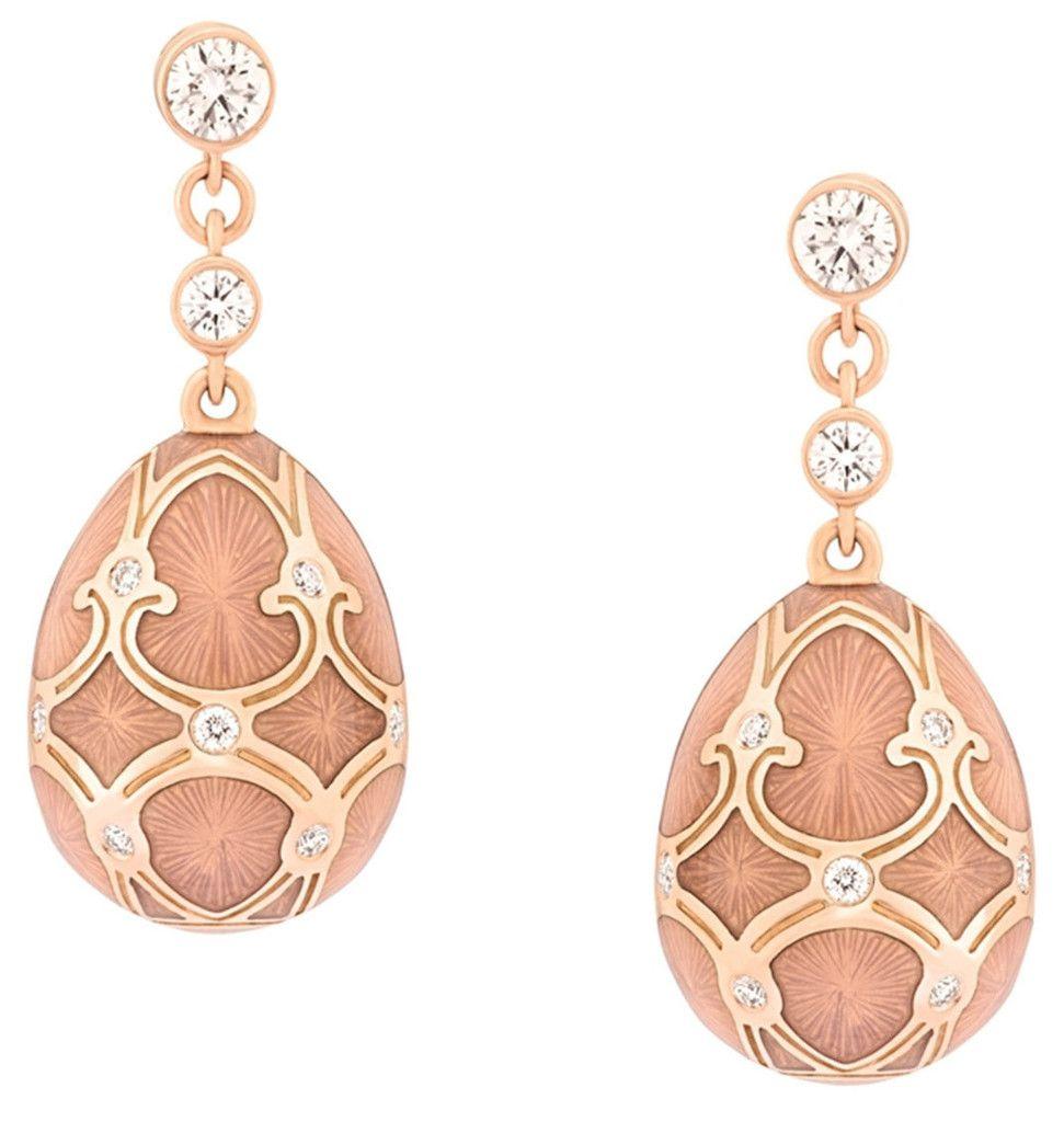 Faberge Heritage Earring Palais Tsarskoye Selo Rose faberg