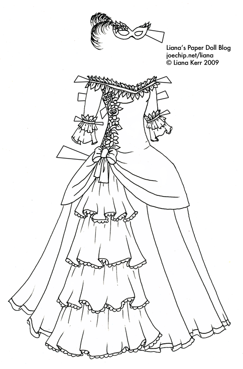 Halloween Masquerade Series #1: Black and White Masquerade Gown ...