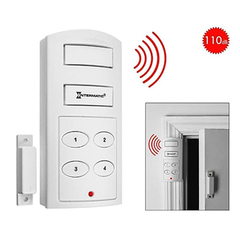 Wireless Door Alarm with Keypad | Home security tips, Home ...