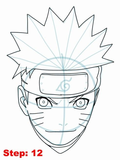 How To Draw Naruto Step By Step Naruto Drawings Anime Drawings