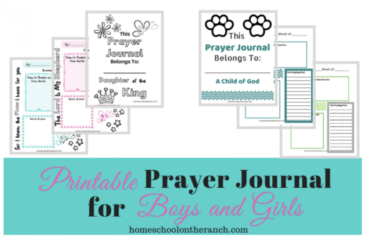 Free Printable Prayer Journals For Boys And Girls