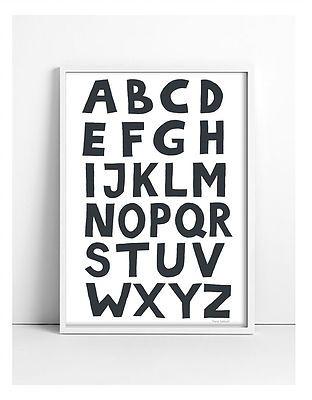 Intérieur - Alphabet black ABC print - - €34.50 | YOUTIC frames ...