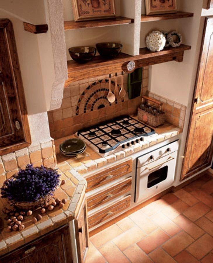 CUCINA IN MURATURA  Arredamento  Clean kitchen cabinets Rustic kitchen e Kitchen styling