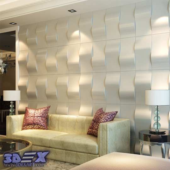 decorative 3d gypsum wall panels, plaster wall paneling design ideas ...