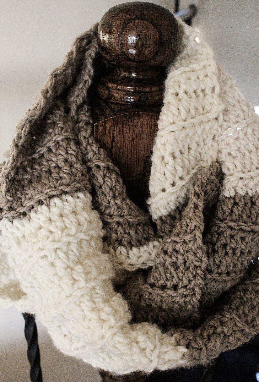 Super Chunk Ribbed Infinity Scarf-Free Pattern-Emmy's ...