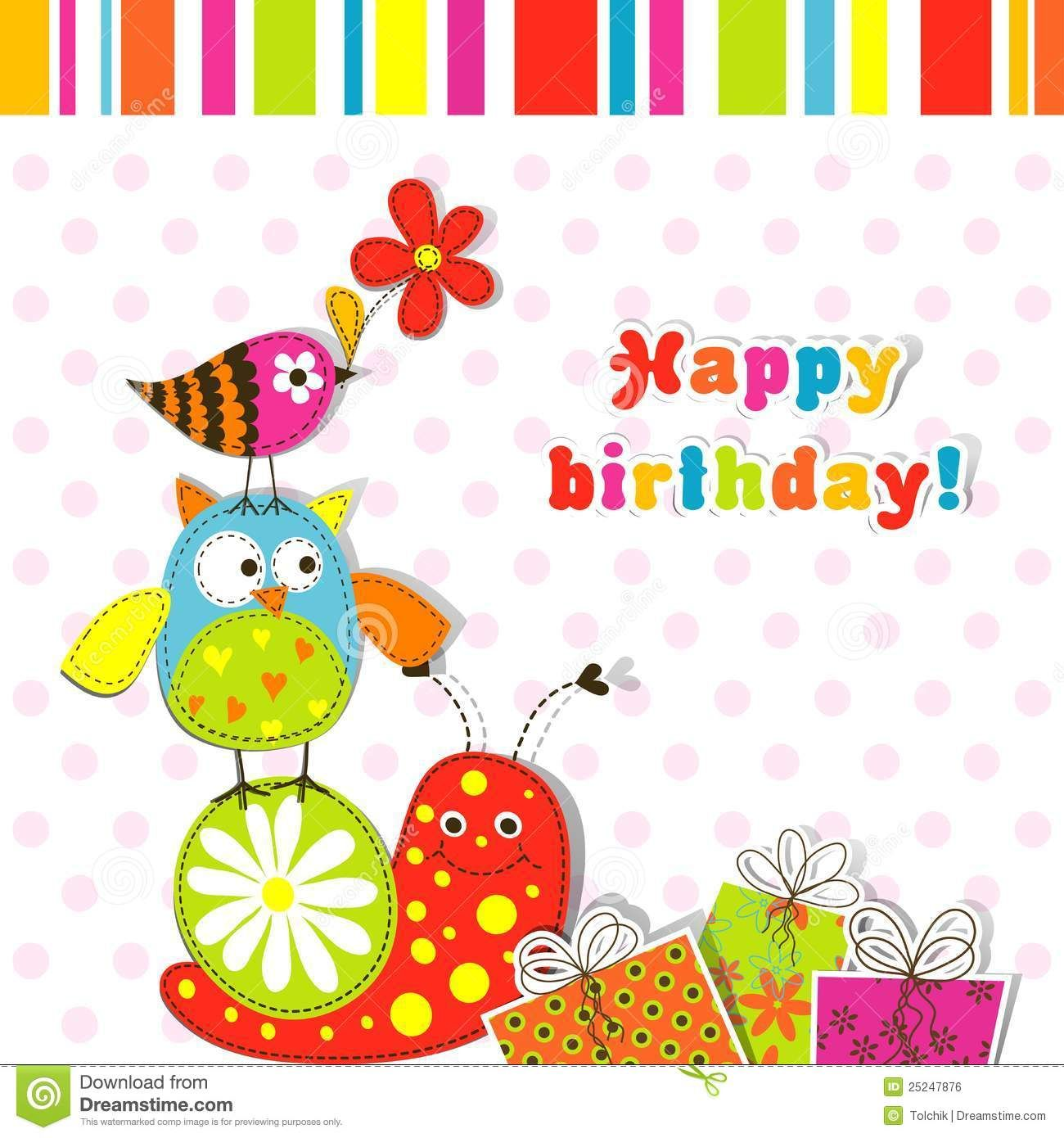 Template Greeting Card Royalty Free Image Image 25247876 – Free Birthday Photo Cards