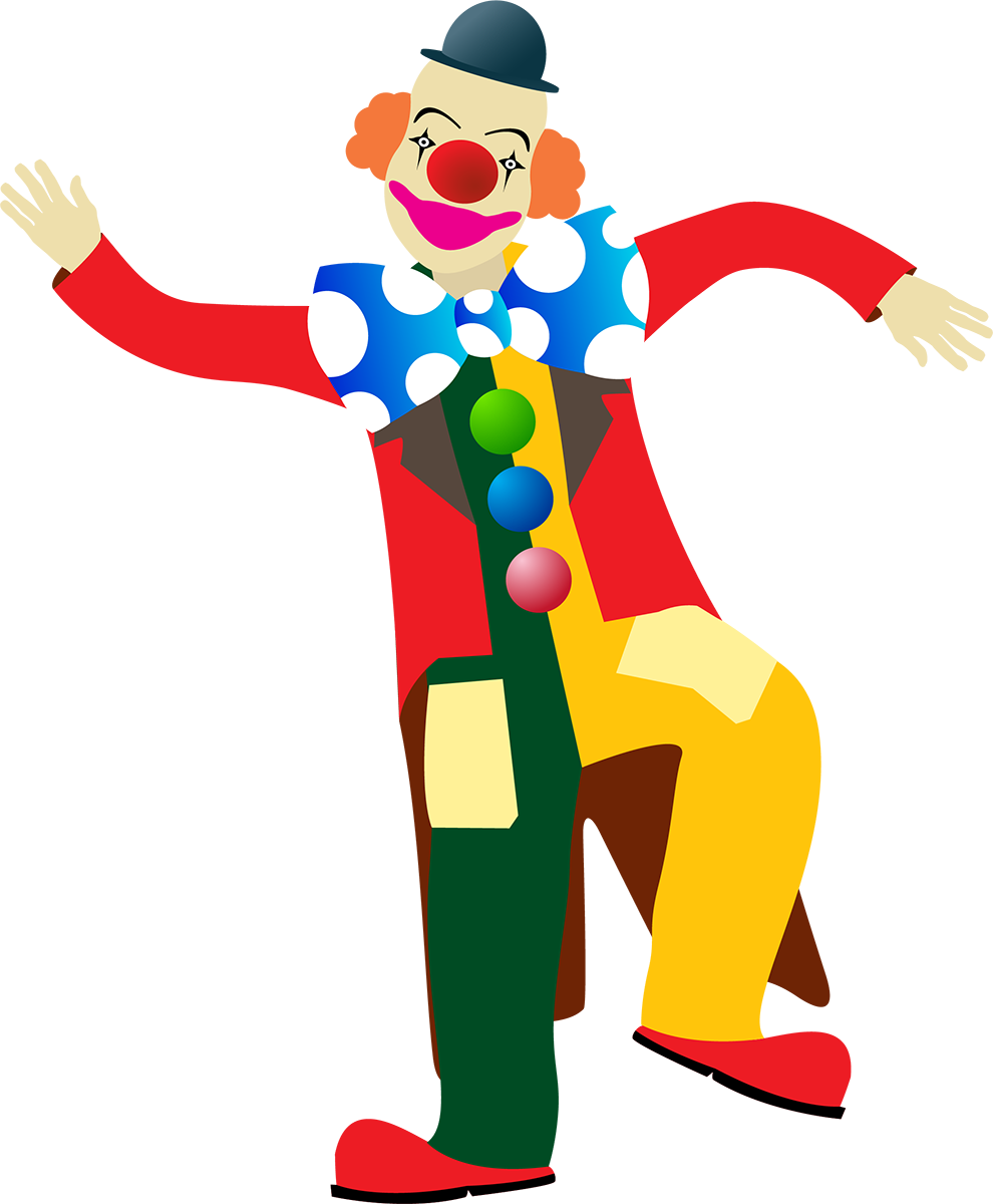 Веселые клоуны рисунок