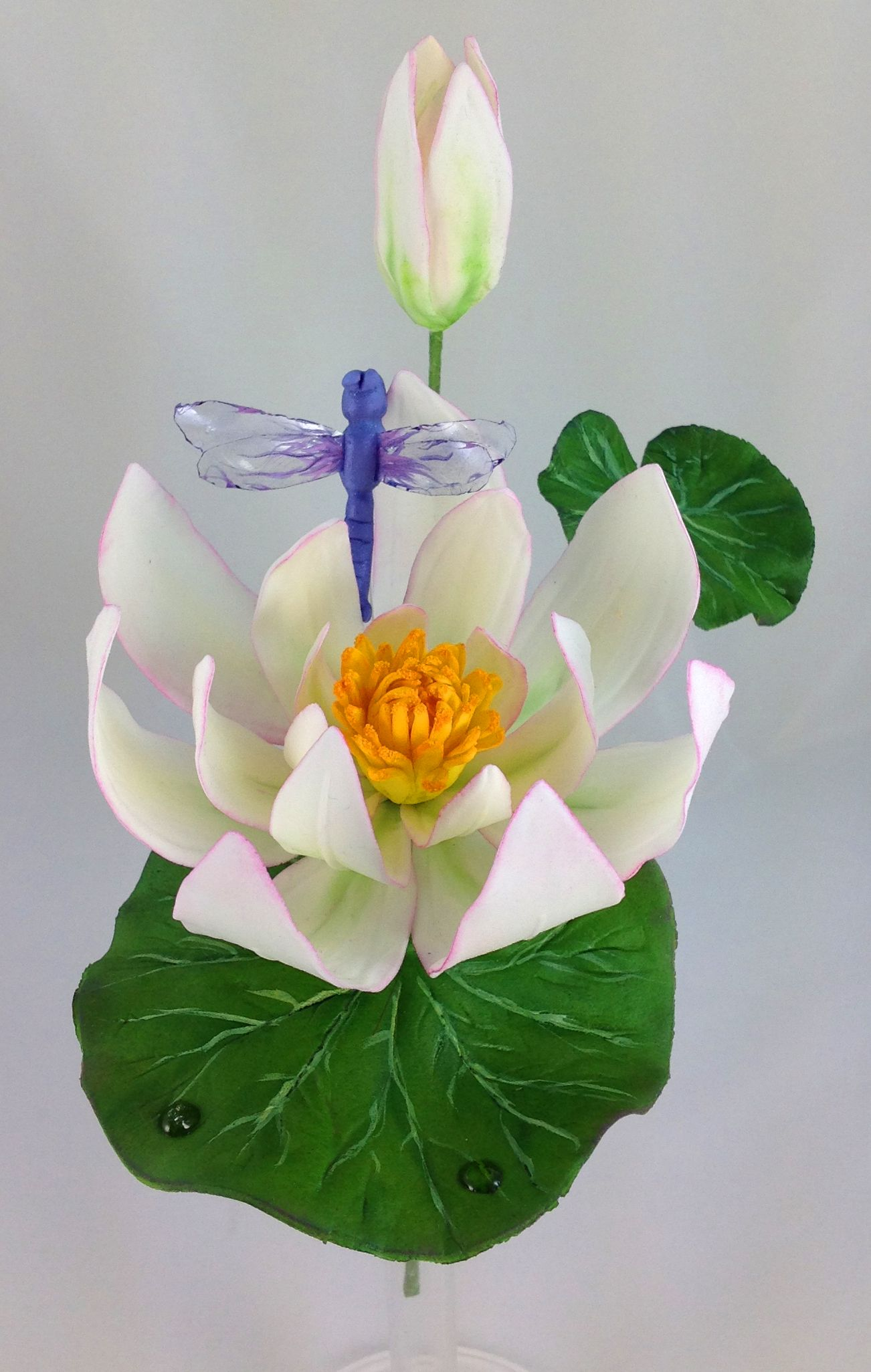 Sugar water lily and dragon fly sugar flowers pinterest sugar water lily and dragon fly izmirmasajfo