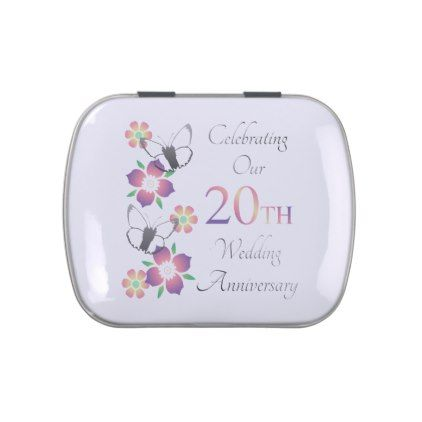 #Elegant 20th Anniversary Jelly Belly Tin - #WeddingCandyContainers #Wedding #Candy #Containers #Tins Wedding Candy Containers & Tins