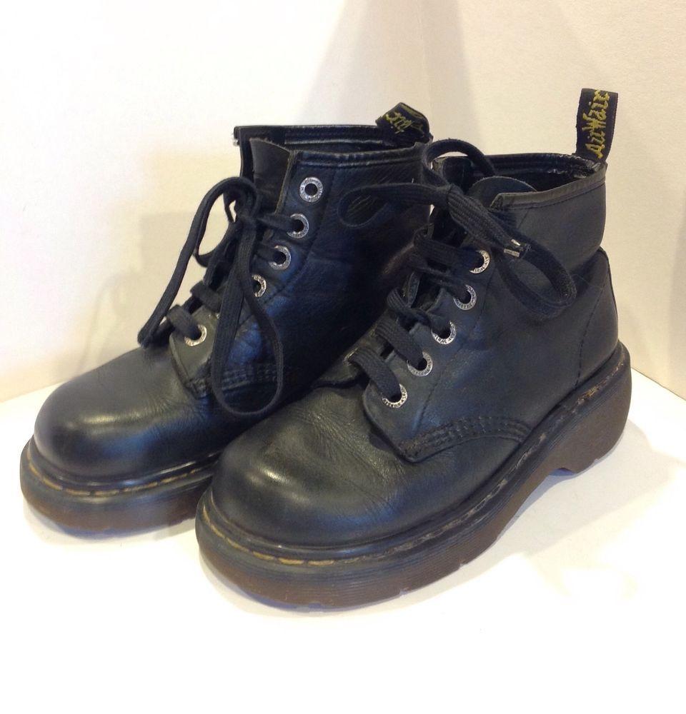 Dr Martens black boots square toe