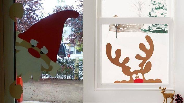 Resultado de imagen para decoracion de VENTANAS navideñas costuras