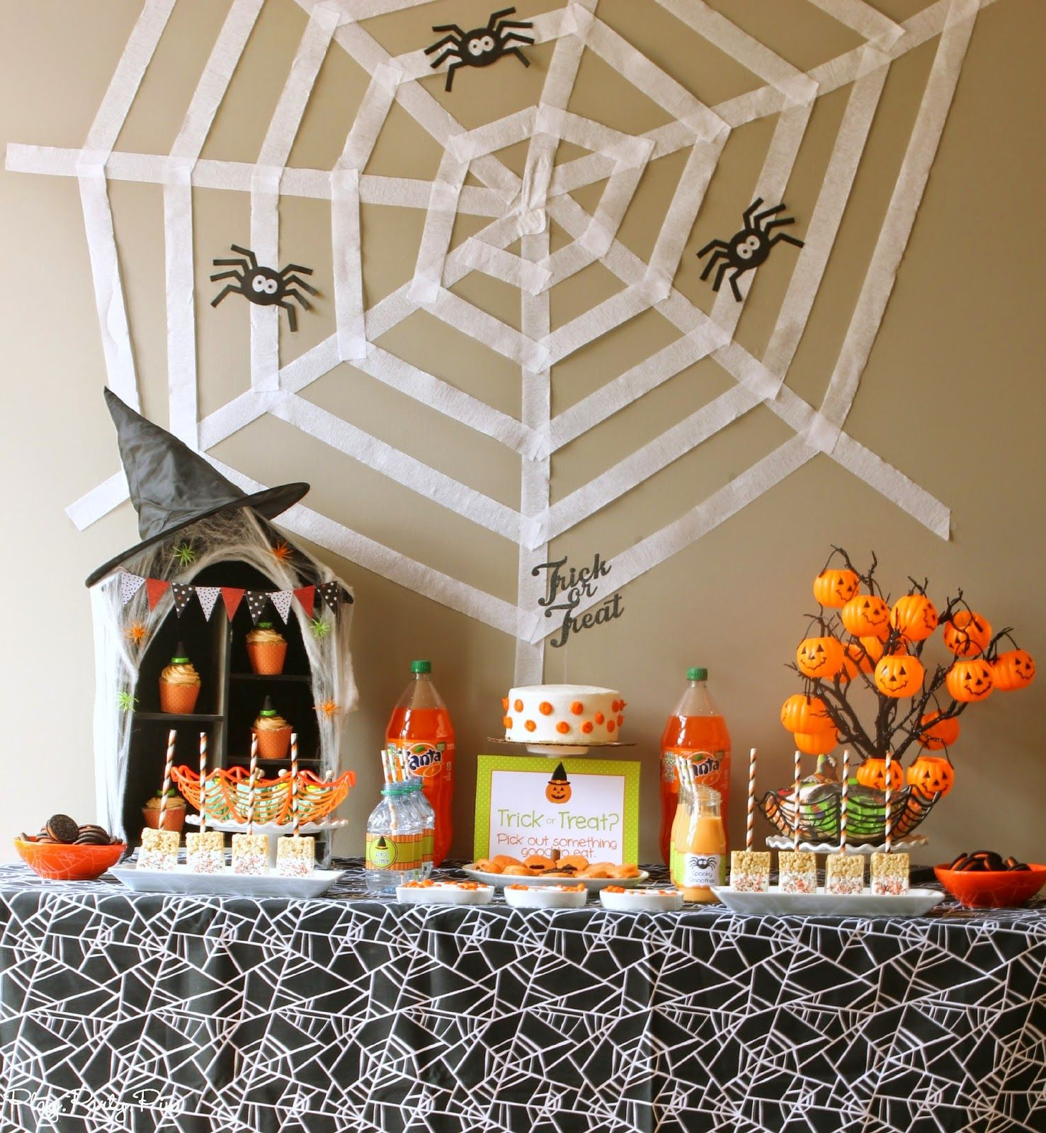 Amazing Halloween Party Ideas Including A Diy Spiderweb Backdrop And