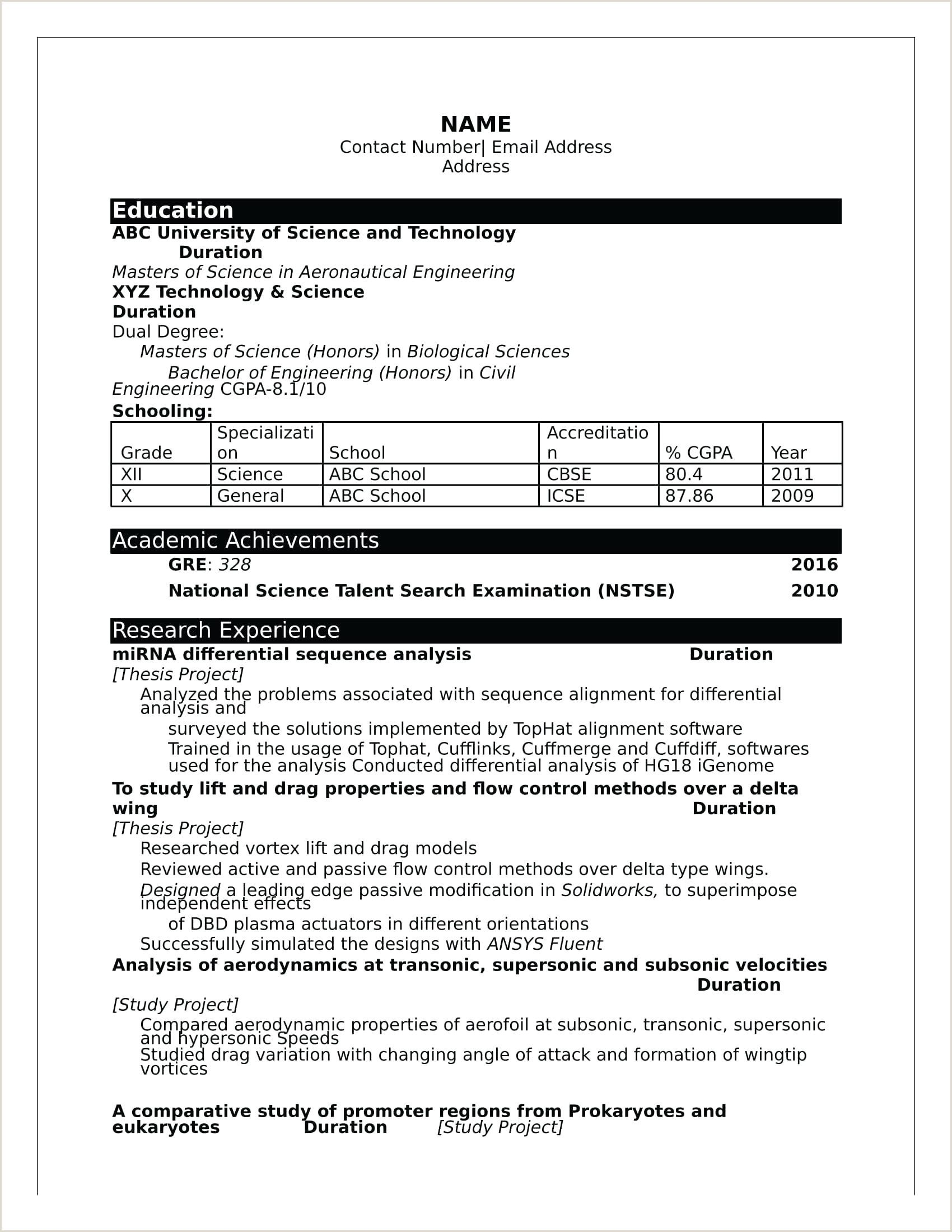 How To Make Perfect Resume For Freshers