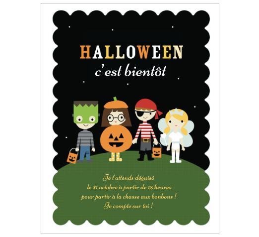 carte halloween invitation enfant