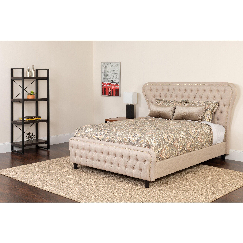 Wide Headboard Platform Set In 2021 Upholstered Platform Bed King Size Platform Bed Queen Size Platform Bed Platform bed and mattress set