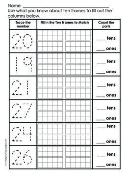 place value practice numbers 11 to 29 educational blogs and blog posts math classroom. Black Bedroom Furniture Sets. Home Design Ideas