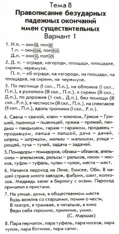 ГДЗ по русскому языку 4 класс Голубь тематический контроль