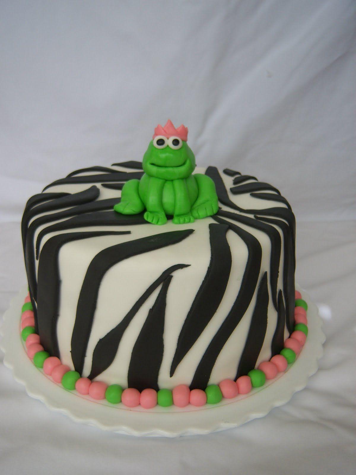 Frog Birthday Cake Ideas Creative Cakes By Angela Zebra And Frog