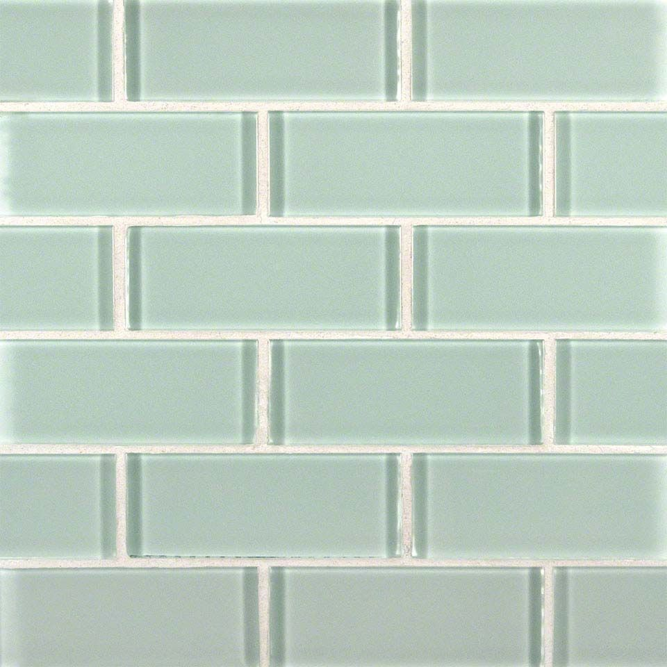 Arctic Ice 2x4x8mm Subway Glass Tile In 12x12 Mesh Glass Mosaic Tiles Mosaic Glass Mosaic Tiles