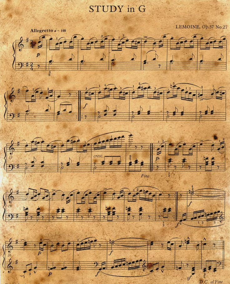 Free Printable Pdf Music Sheet For Your Crafty Ideas Ie Gift