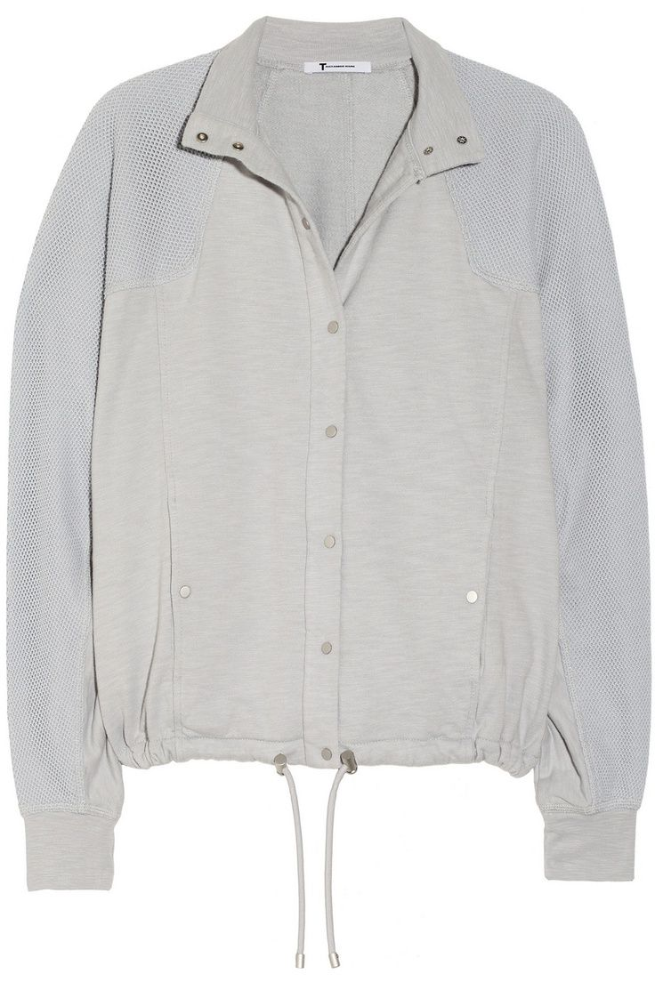 DAY 1 / OUTFIT FOR A RAINY FESTIVAL: T By Alexander Wang Mesh-Paneled Cotton Sweatshirt - This T by Alexander Wang mesh-panelled sweatshirt is a stylish upgrade from the usual zip up hoodie. It's also in the sale at TheOutnet.com #notionfg