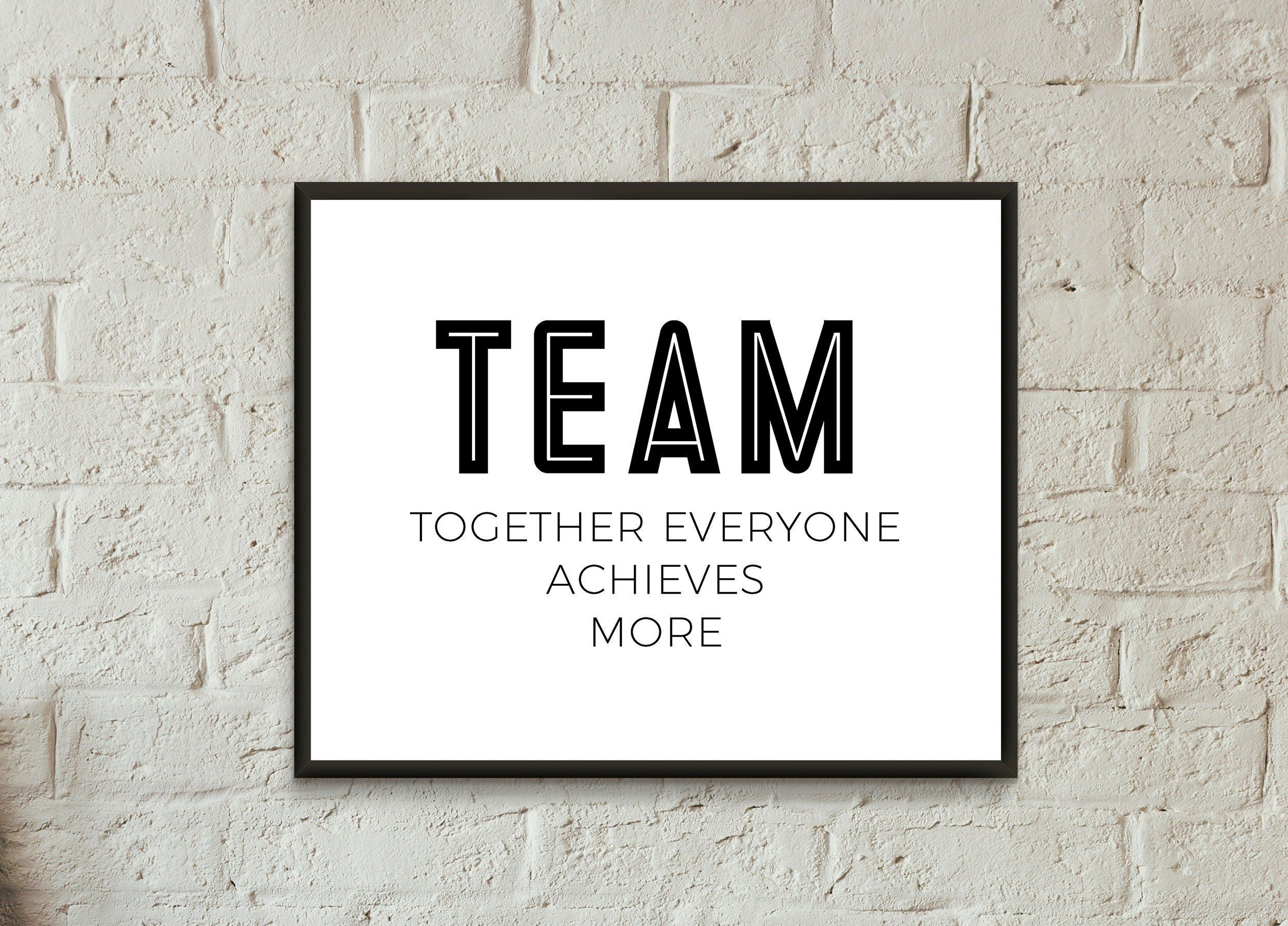 Excited To Share The Latest Addition To My Etsy Shop Office Wall Art Download Together Everyone Achieves More Moti Office Wall Art Office Quotes Office Walls
