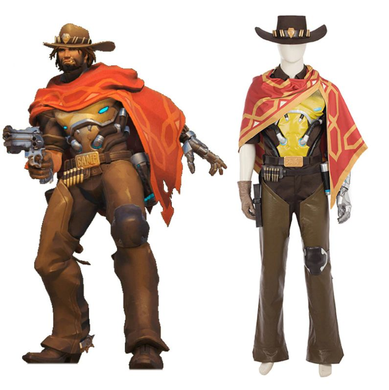Mccree Halloween Costume 2020 Overwatch OW Bounty Hunter Jesse McCree Outfit Cosplay Costume in