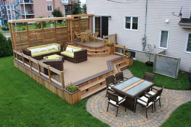 Brilliant small backyard deck patio ideas patio plus terrasses ...