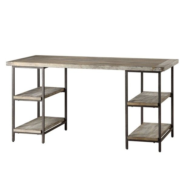 Renate Wood Metal Office Desk Ping Great Deals On Desks