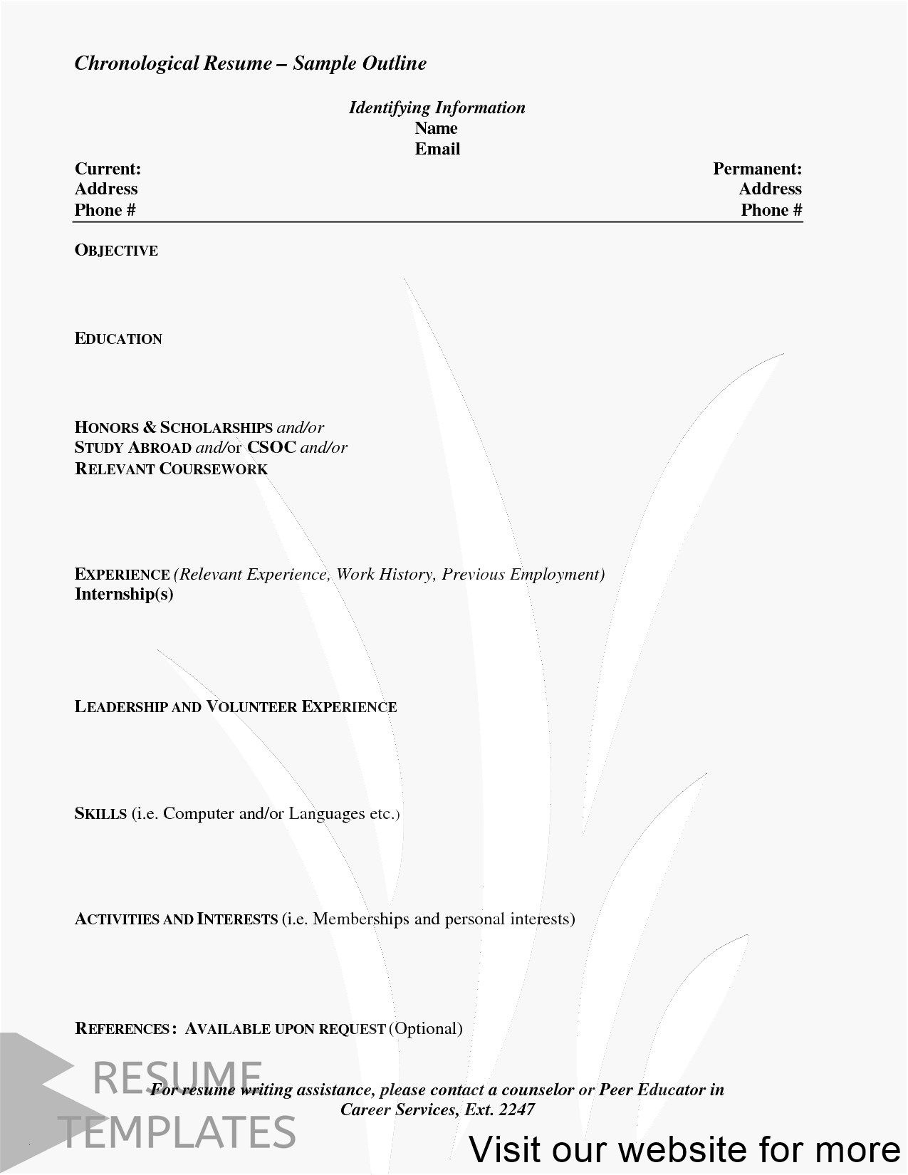 Resume Template Free Resume Template Professional Download