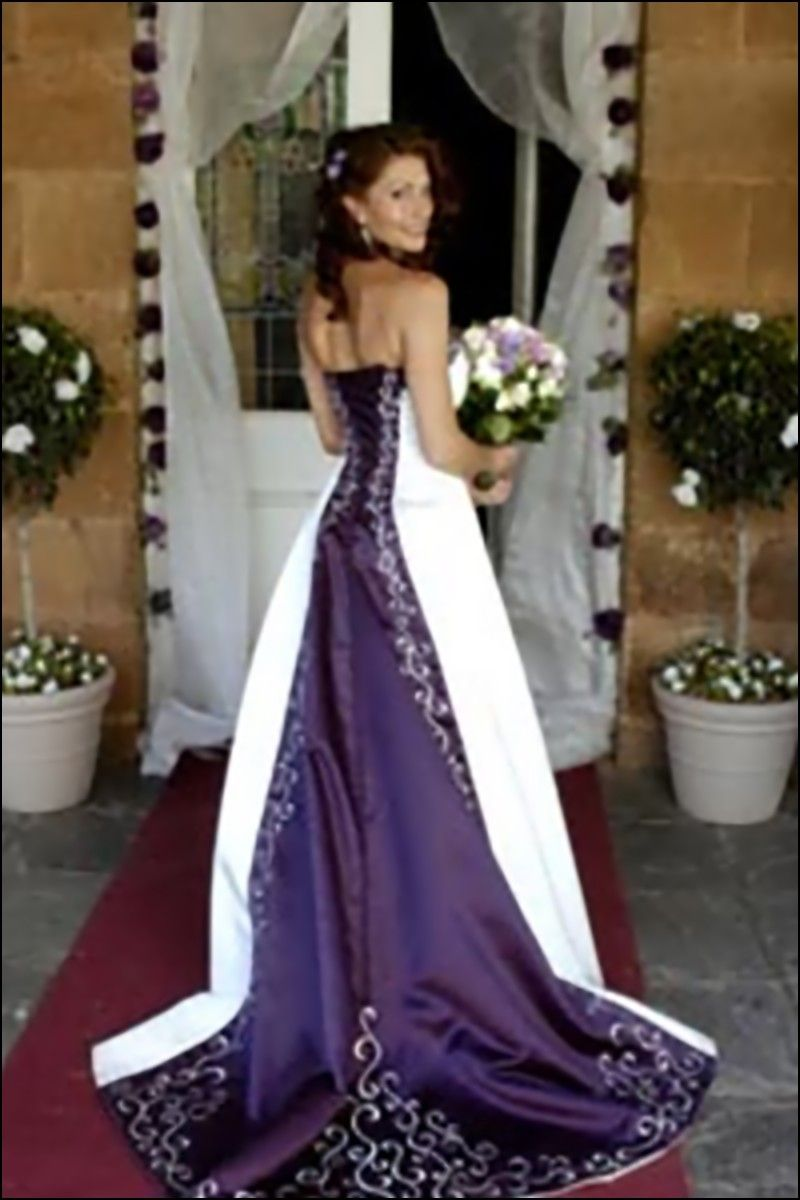 Purple n white wedding dresses wedding ideas pinterest white