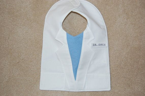 Lab Coat Grey's Anatomy BibThe Intern by CarolynsClassics on Etsy