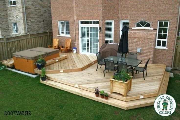 Hot Tub Deck Designs This Deck Plan Is For A Large Two Level Spa Hot Tub Deck Designs Pictures Hot Tub Deck Hot Tub Backyard Hot Tub Patio Hot Tub Landscaping