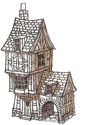 Drawing A Fantasy House