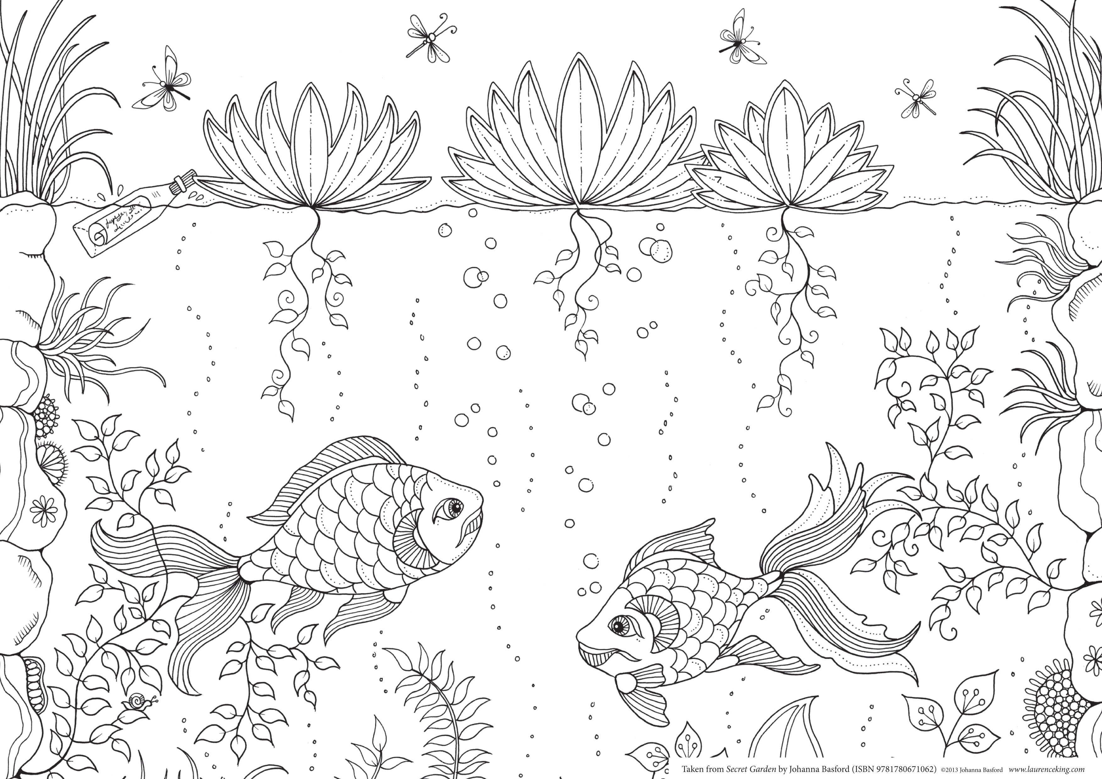 Secret Garden Coloring Printable Book