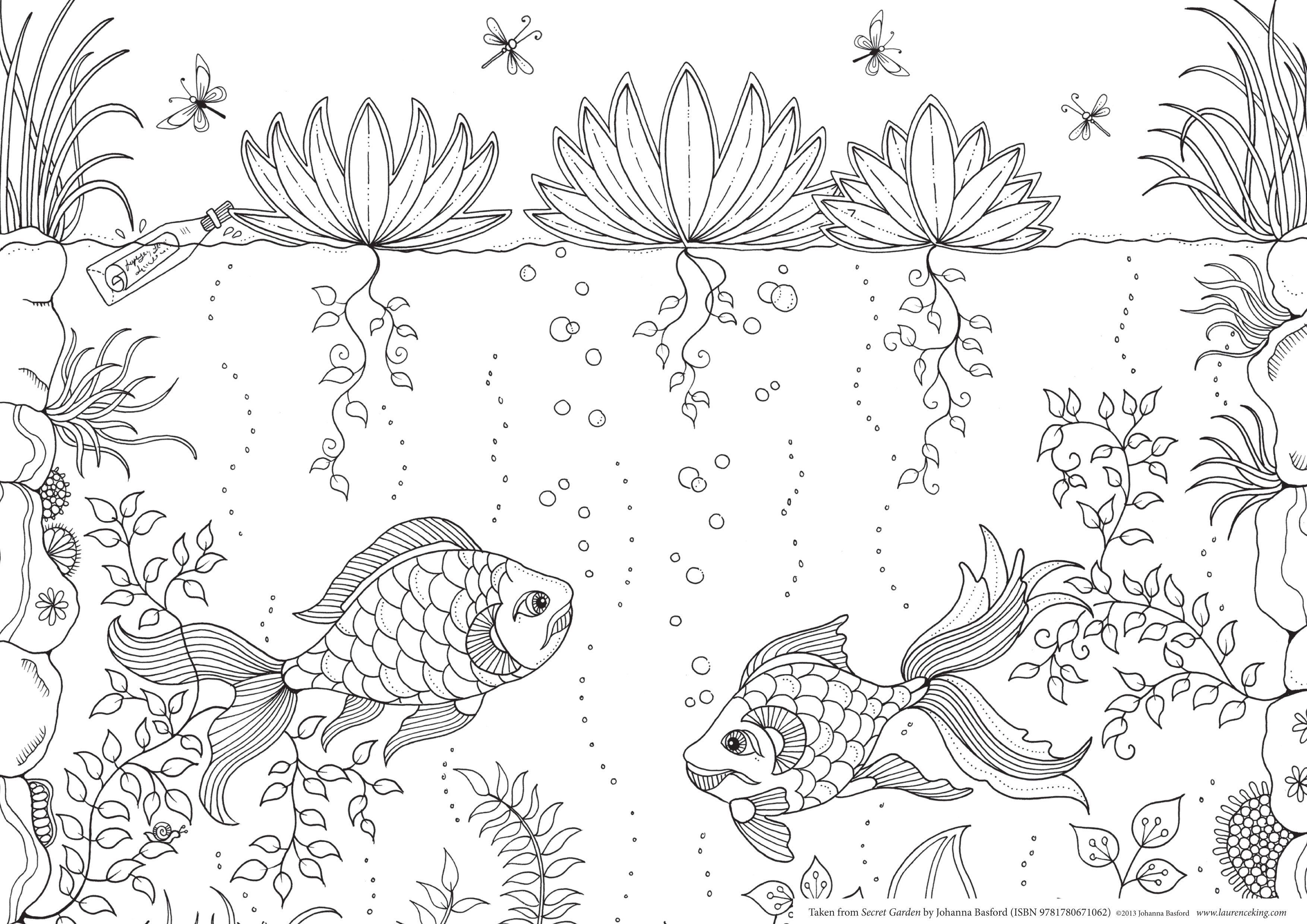 Secret Garden Coloring Printable Book