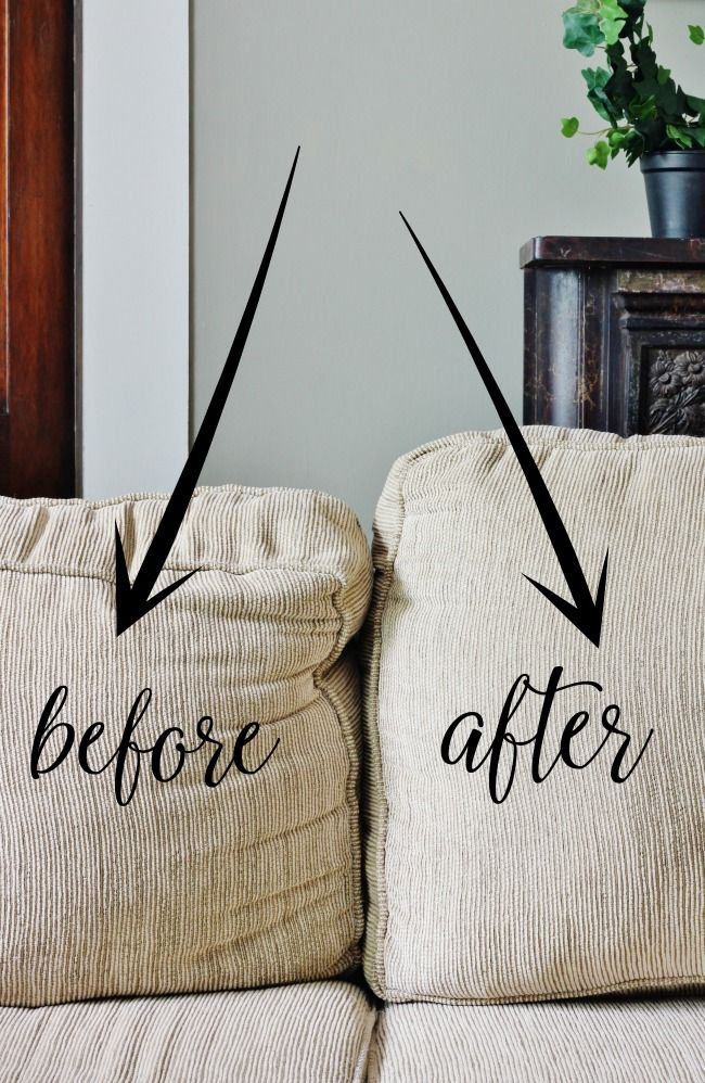 How To Fix Sagging Couch Cushions Thistlewood Farms Before And After